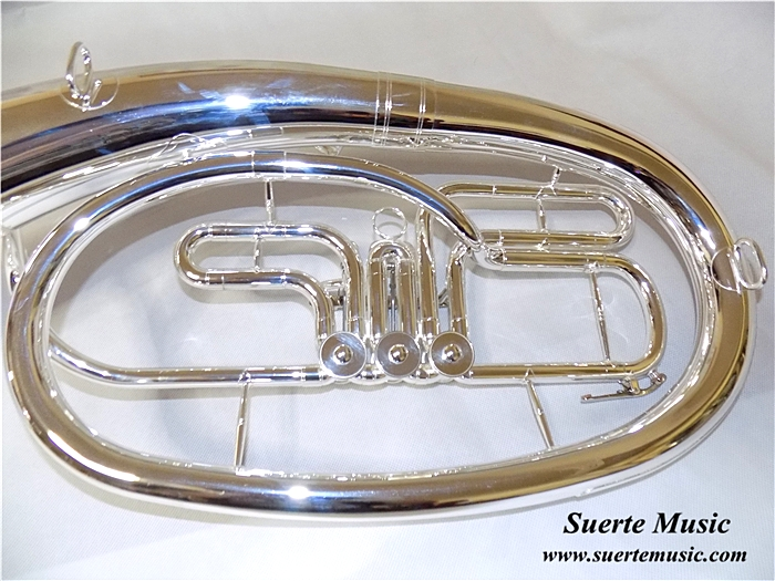 Купить с кэшбэком Brass Baritone Bb Key 3 valves Silver plated With ABS case and mouthpiece Musical instruments wholesale