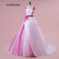 weilinsha New Arrival Contrast Color Wedding Dresses Real Photo Ball Gown Vestido de Noiva Brides Gowns Formal Dress
