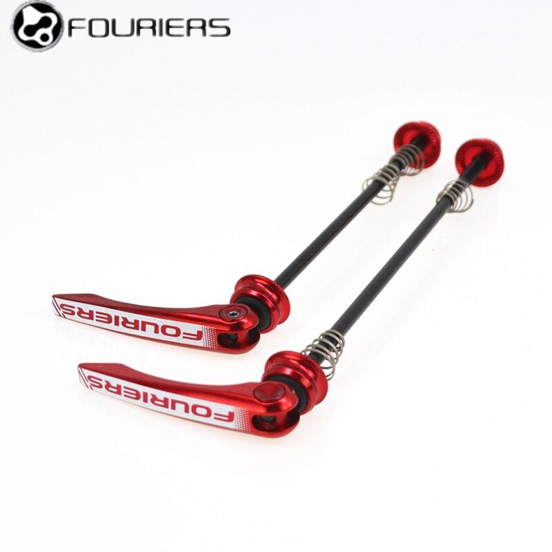 Fouriers dégagement rapide QR-S002 CNC levier usiné essieu titane vélo dégagement rapide pour vtt ou vélo de route 100mm 130mm 135mm