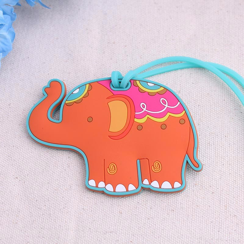 100PCS/LOT High Quality Lucky elephant Luggage Tag baby shower party Favor wedding bridal shower Favor party gifts Free shipping