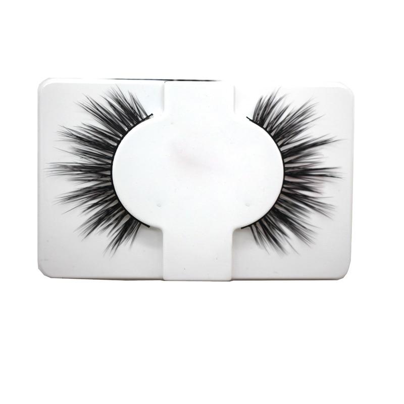 1Pair Natural False Eyelashes Handmade High Quality False Eyelash Extension Soft Thick Long Fake Mink hair Eye Lash Makeup tool