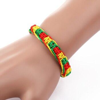 Cheap brazilian bracelet multicolor braided boho chain bohemian tassel handmade sport chain friendship bracelets neon unisex 4