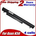 JIGU Laptop Battery for Asus A32-K56 A41-K56 K46 K46CA K46CM K56 K56CA K56CM K46CM K56C K56CM K56CA 2600mah 14.8V
