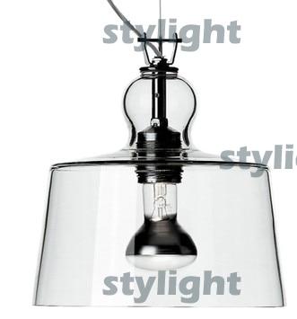 US $120.69 10% OFF Acquatinta lampa wisząca lampa wisząca dmuchane szkło błyszczące chromowane metalowe przezroczysty biały czarny chrom kolor pendant