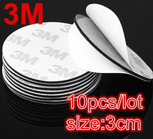10PCS Black Diameter 30mm Double Sided Adhesive Tape Powerful 3M Circle Foam Two Sides Stick Free Shipping