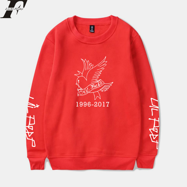 LUCKYFRIDAYF 2018 Lil Peep Rap Spring Warm Sweatshirt Men/Women Long Sleeve Print Tracksuit Hip Hop Style Clothes Plus Size 4XL