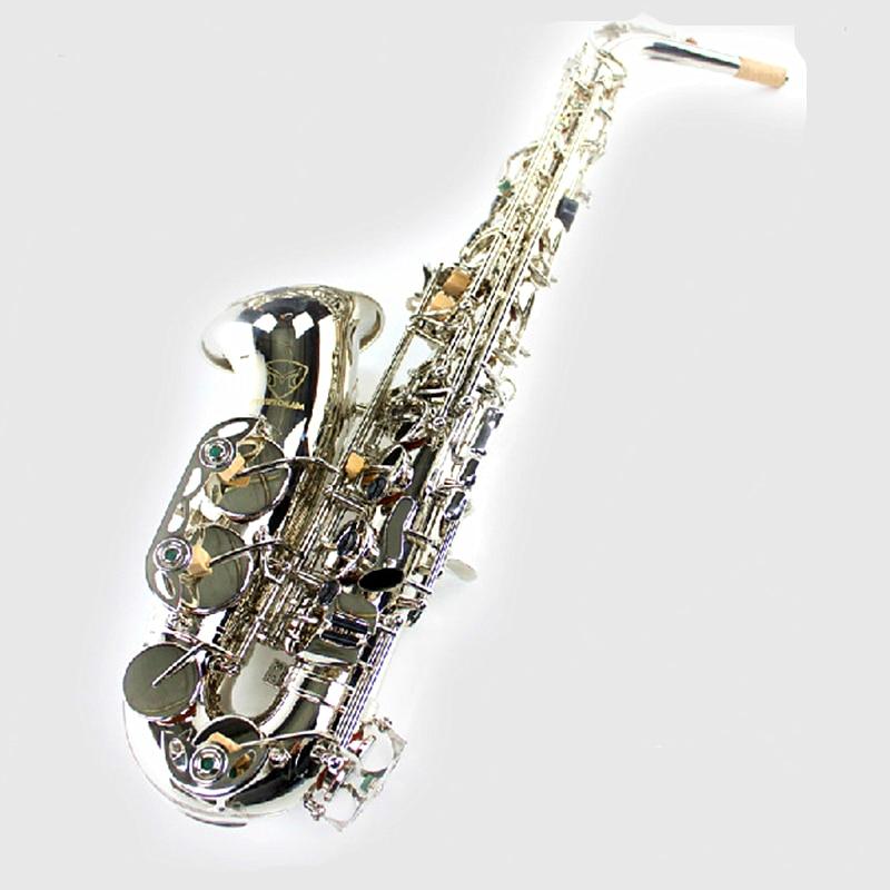Alto Eb Falling Tune E Sax Wind Instrument Saxophone Western Instruments saxofone Saxe alto Eb Professional Musical Instrument alto saxophone new eb silver alto sax plated brass musical instruments professional saxophone alto sax e flat