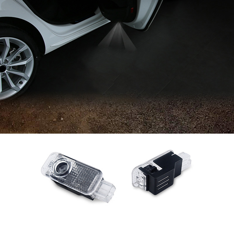 2pcs LED Car door welcome light courtesy led car laser projector Logo Ghost Shadow Light For Audi Logo power Light ...
