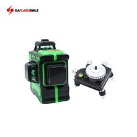 Thick 3D Level 12 Green Lines Laser Level Bright Lines 360 Rotary Horizontal Vertical Cross Lithium Battery Power Laser Level