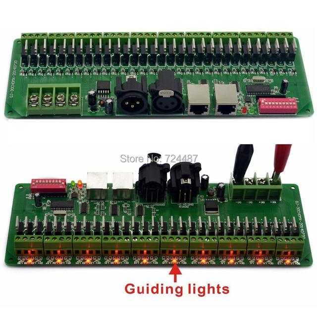30 channel/27 channel  Easy DMX rgb LED strip controller  decoder dmx512 decoder controlador dmx dimmer 12v console