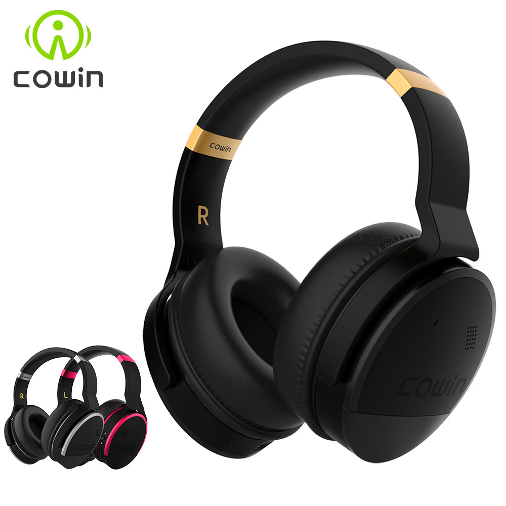 Original Cowin E8 Active Noise Cancelling Bluetooth <font><b>Headphones</b></font> Wireless Stereo Deep Bass Over Ear Headset for phones -30dB level