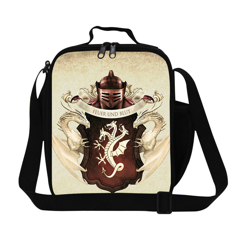 Game of thrones polyester school bags for boys Lunch Bag 5