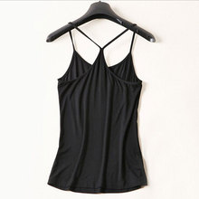 Women's Fashion Slim Sexy Crop Black Tank Tops New 2017 American Female Elastic 100% Modal Soft The Patch Tee Mousepad Pom Poms