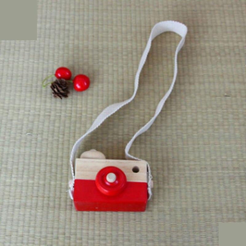 Скандинавский Европейский стиль камера Игрушки для маленьких детей декор комнаты предметы мебели ребенок Рождество День рождения деревянные подарки - Цвет: red