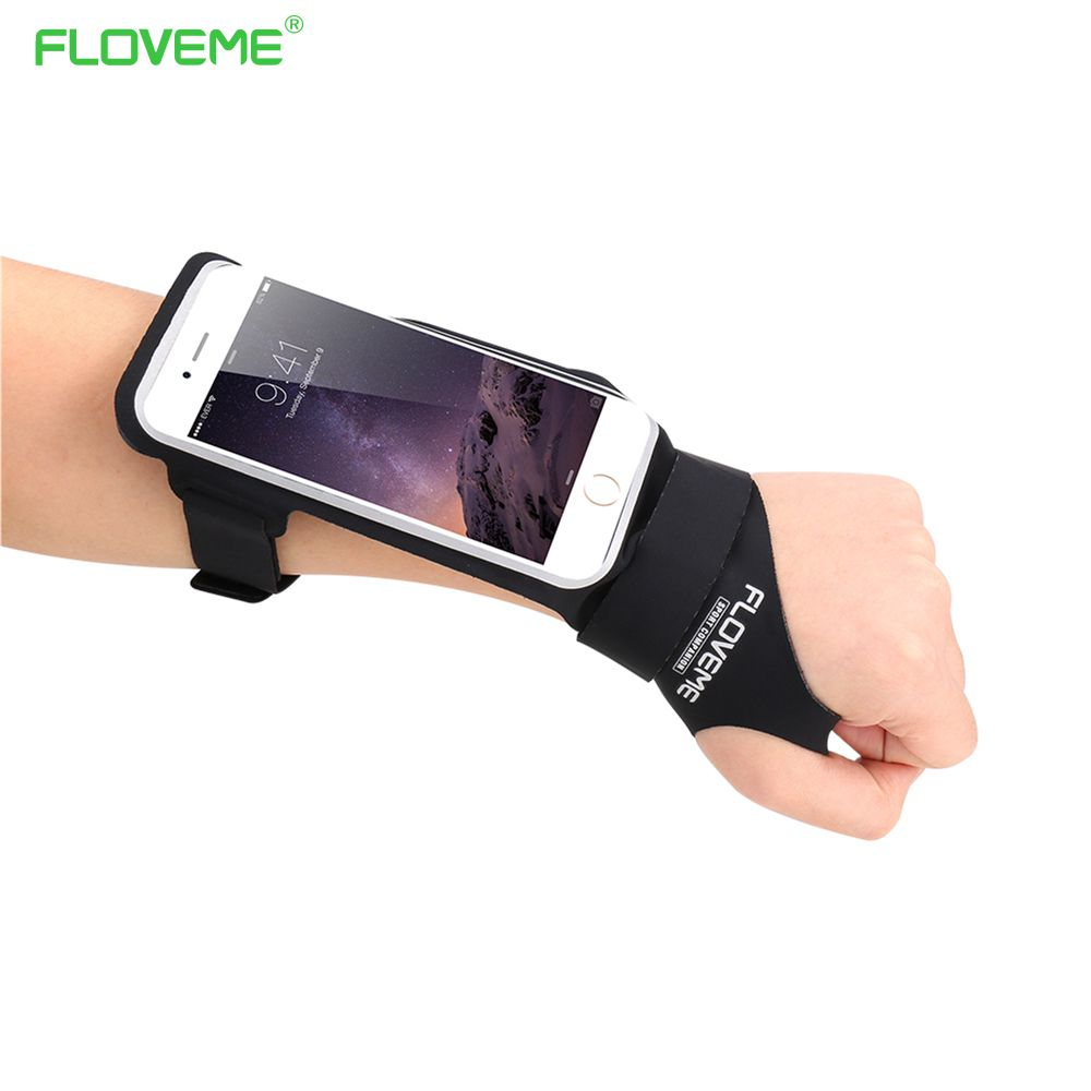 FLOVEME Bicycle Armband Bike Bag Double Pouch For Apple iPhone 7 Plus 7 6S Plus 5S For Samsung Galaxy S8 S8 Plus S7 Edge S6 J5
