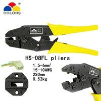 Цвета HS-08FL для флага типа женских сосудов изолированные клеммы 1,5-6 мм2 15-10AWG обжимные плоскогубцы разъемы брендовые инструменты