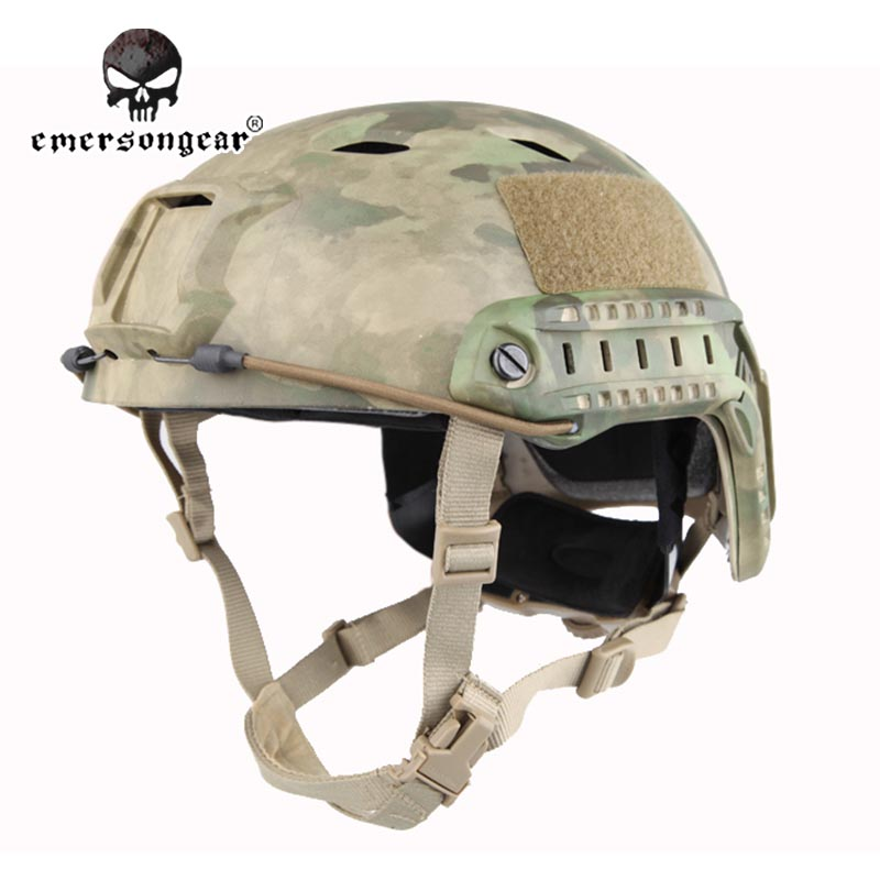 ФОТО Emersongear Fast Base Jump Hunting Wargame Adjustable Helmet Protective Helmet Emerson BJ Type EM5659G A-TACS FG