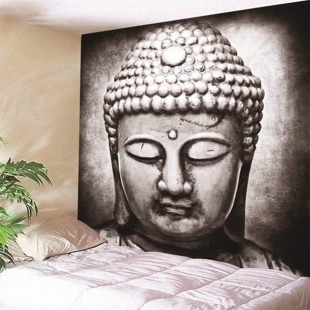 Hot parete Arazzo appeso Indiano statua di Buddha Poliestere Telo Da Mare Sullo Sfondo Della Decorazione Della Casa di Arte Della Parete Più dimensioni