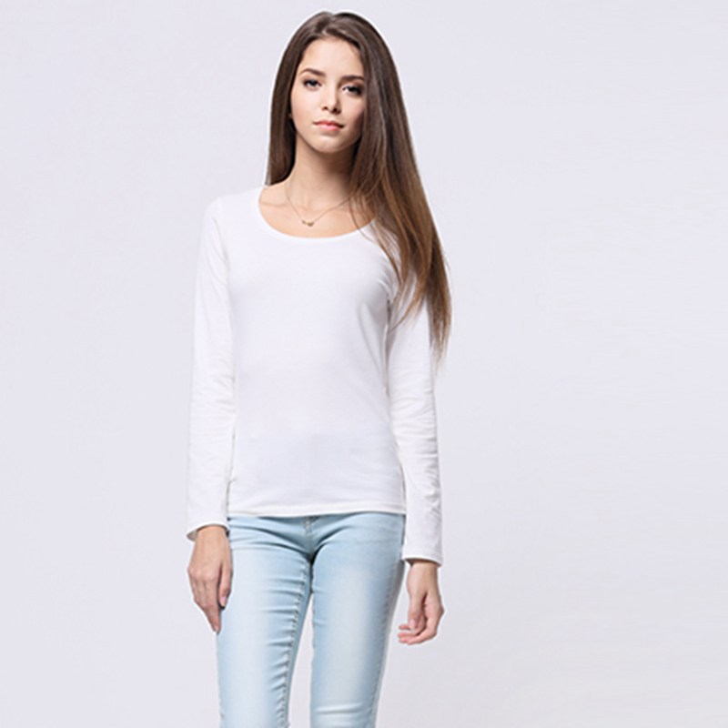 White T Shirt Women Shirts Long Sleeve Ladies Tops Slim Crew Neck T shirts  Basic Tee Shirt Homme Blusas Camisetas Mujer FXE01 on Aliexpress.com  11012ffcfab2