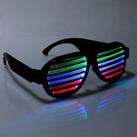 Led Flashing Glasses Halloween Glowing Party Mask Decor Bar Sound Control Glasses LED Voice Activated Toy