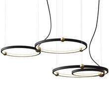Modern Round Ring Parlor Led Pendant Lights 220V Hall Restaurant Bedroom Lamp Aluminum Hanging Light Fixtures Art Deco