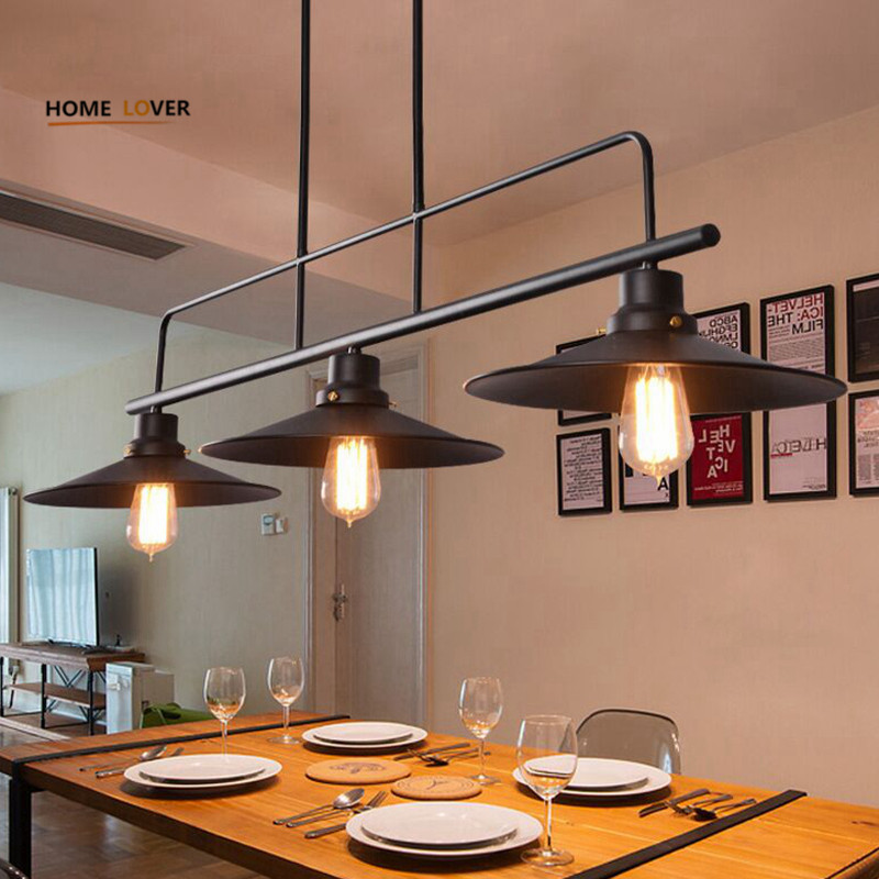 Vintage Led Pendant Lights Lamp Loft Creative Personality Industrial Lamp Edison Bulb American Style For Dining Room decoration vintage pendant lights industrial loft american retro lamps creative restaurant dining room lamp bar counter incandescent bulb