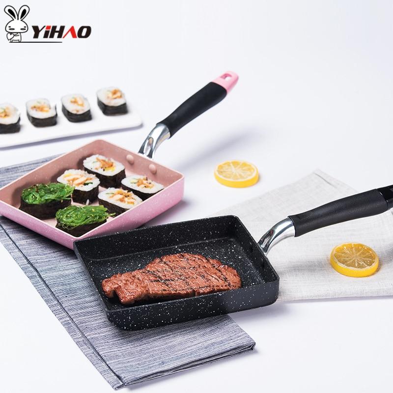Ихао антипригарной сковороде Maifan Камень антипригарным японский сковороде Melaleuca сковорода электрическая газа Универсальный