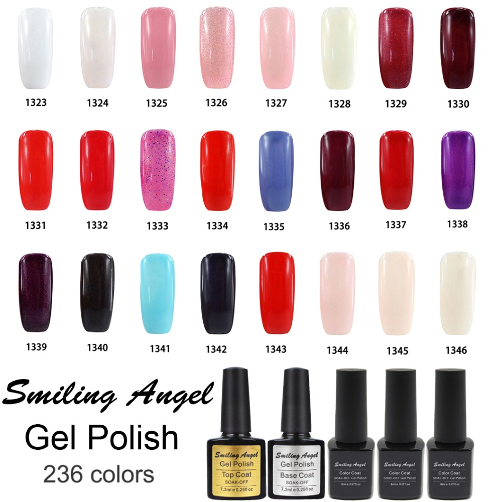 Smiling Angel Kinds Of Color Bling Soak Off Gel Nail Polish Art Long Lasting Uv Lak Primer White Black Red In From Beauty