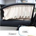 2PCS  50S Car Sun Shade Side nylon Mesh Window Curtain Foldable Sunshade UV Protection Car Styling