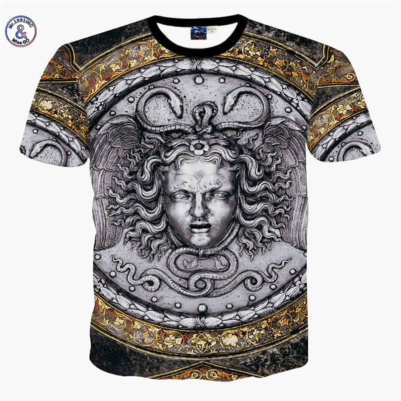 3812f920f06e3 2017 Mr.1991INC Miss.GO Summer New Mr GUGU   Mis GO versa T Shirt faith Men  3D Gold flower printing T shirt Top Large size S XXL-in T-Shirts from Men s  ...