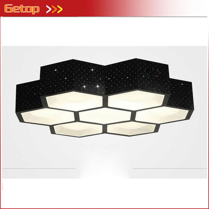 ZX Modern Contracted Iron Acryl LED Ceiling Lamp Box LED Chip Stepless Adjusted Light Sitting Room Office Through Carved Lamp
