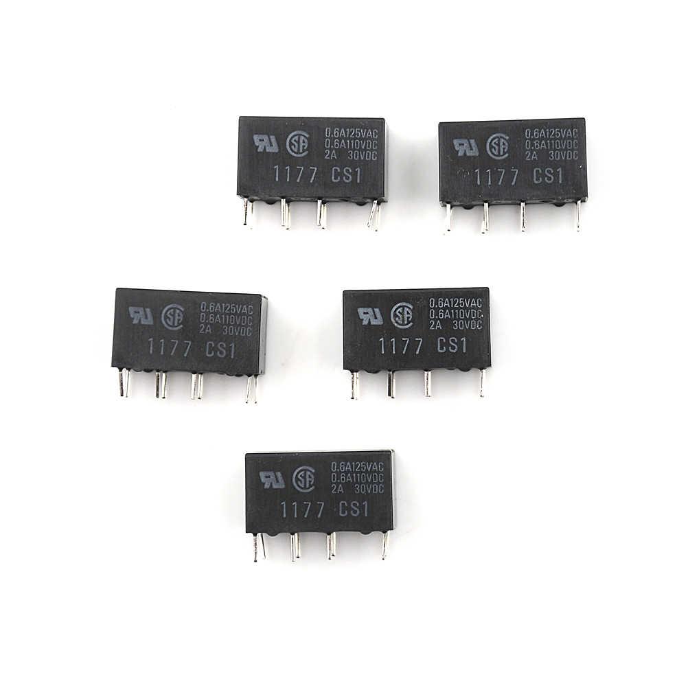 5 adet/grup siyah renk G5V-2 DC 12V 2A DPDT 8Pin PCB dağı düşük maliyetli sinyal rölesi
