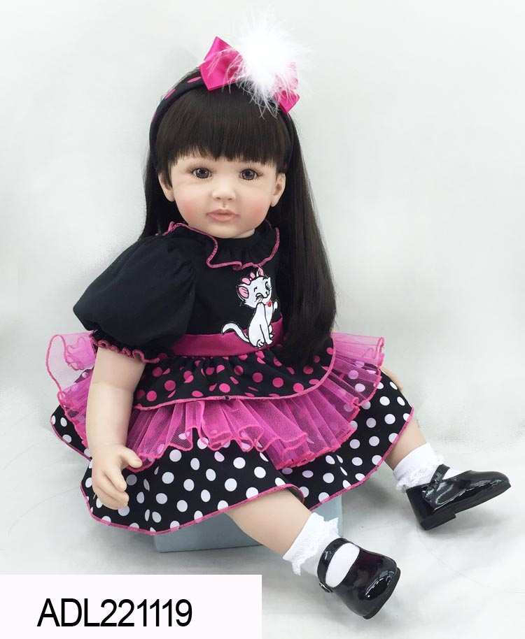 Vinyl silicone reborn baby dolls accompany sleeping doll lifelike princess toddler doll kid popular christmas birthday gifts the cute silicone reborn baby dolls accompany sleeping lifelike cute princess toddler doll kid popular christmas new year gifts