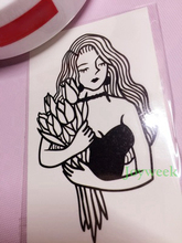 9 designs Waterproof Temporary Tattoo Sticker old school lily cool girl tatto stickers flash tatoo fake tattoos for lady women