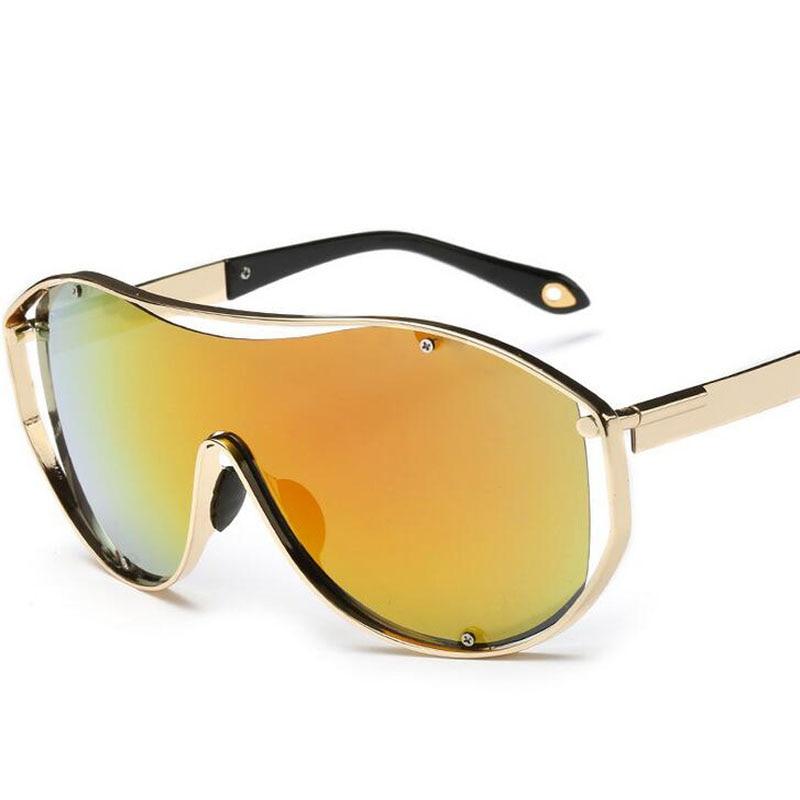 8cfb22fb638fdf Cool Hommes Steampunk Lunettes, métal Punk lunettes de Soleil Femmes Miroir  Lentille Réfléchissante Anti uva Soleil Protection Lunettes oculos de sol