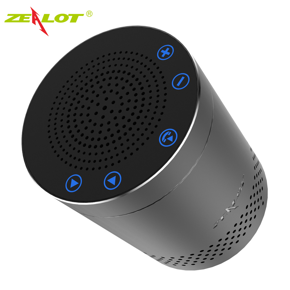 ZEALOT S15 Touch Control Bluetooth Speakers Wireless Portable Aluminum Alloy HiFi Stereo 3D Surround Sound Outdoor Subwoofer