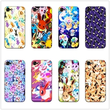 DK Eeveelutions cute cartoon phone case black soft cover for Samsung s8 s9plus S6 S7Edge for iPhone 6 6s 7 8plus 5 X XS XR XSMax