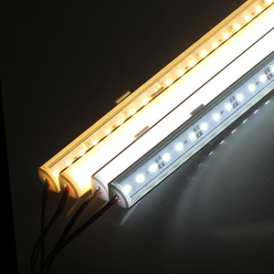 5PCS/lot Wall Corner LED Bar Light DC 12V 50cm SMD 5730 Rigid LED Strip Light Wall Corner Light DC12V LED Cabinet Light
