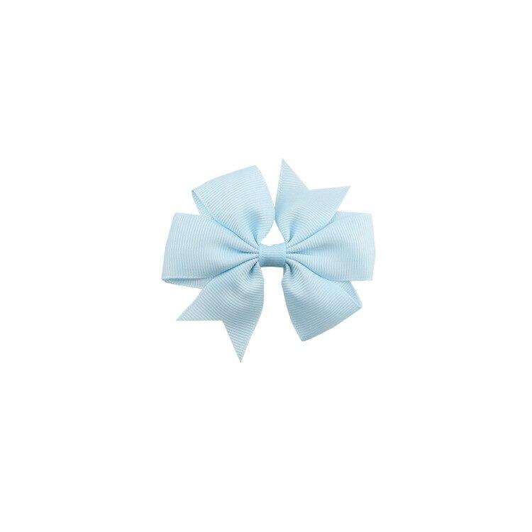 40 цветов сплошная корсажная лента банты заколки шпилька девушка бант для волос, бутик заколки для волос аксессуары для волос - Color: a10 Sky Blue