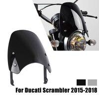 Windshield For Ducati Scrambler 2015 2016 2017 2018 Wind Deflector Motorcycle Front Windscreen Wind Shield Screen