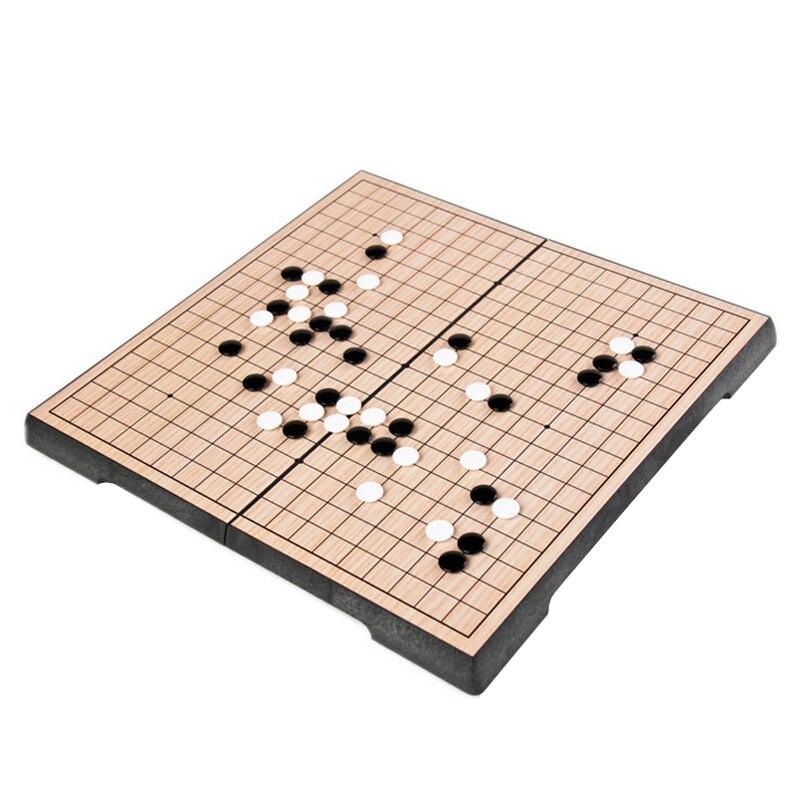 Classique 19 route aller jeu Weiqi damiers Table pliante en plastique magnétique Chessman diamètre 14 MM aller jeu d'échecs Gobang jeu de société cadeau