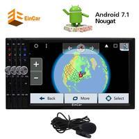 Android 7.1 nougat Восьмиядерный стерео для Универсальный 2 DIN Автомобильный FM/AM Радио приемник GPS navigtion usb sd обои 1080 P видео