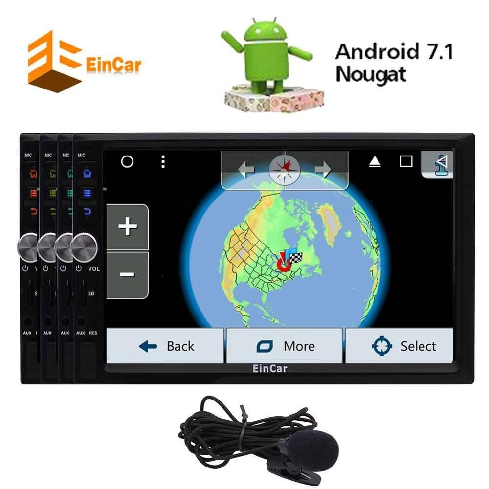 Android 7.1 nougat octa-core autoradio pour universel 2 Din voiture FM/AM Radio récepteur GPS navigation USB SD papier peint 1080 P vidéo