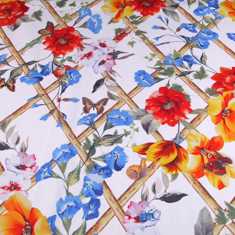 New Summer Parent child Hedges Butterfly Prints Cotton Poplin Dress Fabrics DIY Cotton Shirt Fabrics