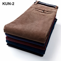 High Quality New Autumn and Winter Male Business Men's Trousers Straight Corduroy Corduroy Pants Breathable Casual Pants