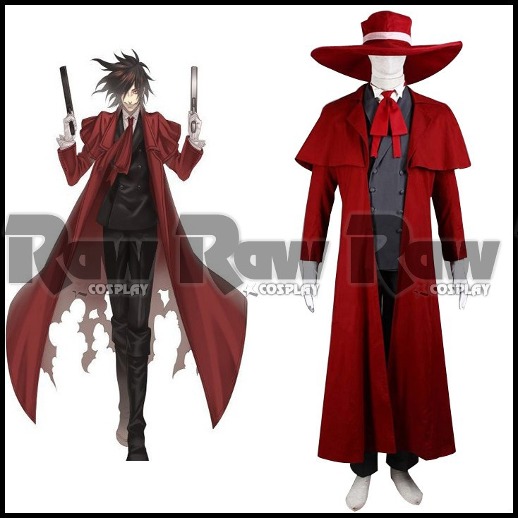 Anime Hellsing cosplay Costumes for Vampire Hunter Alucard ...