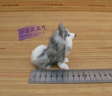 simulaiton sitting husky dog toy polyethylene&fur mini husky dog doll gift about 9x4x9cm 538