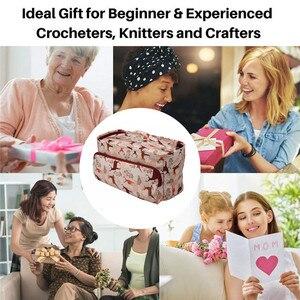 Image 2 - KOKNIT 12 stilleri örgü çanta düzenleyici iplik saklama kutusu Crocheting için kanca örme İğneler yün saklama kutusu çanta kadınlar için