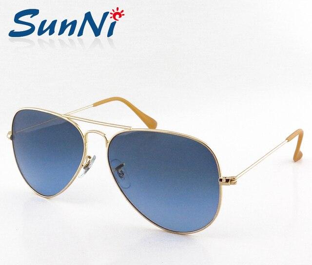 Hot Sale High Quality Women Sunglasses Women Brand Designer Men Glasses Gold Blue Degrade Sun Glasses 58mm