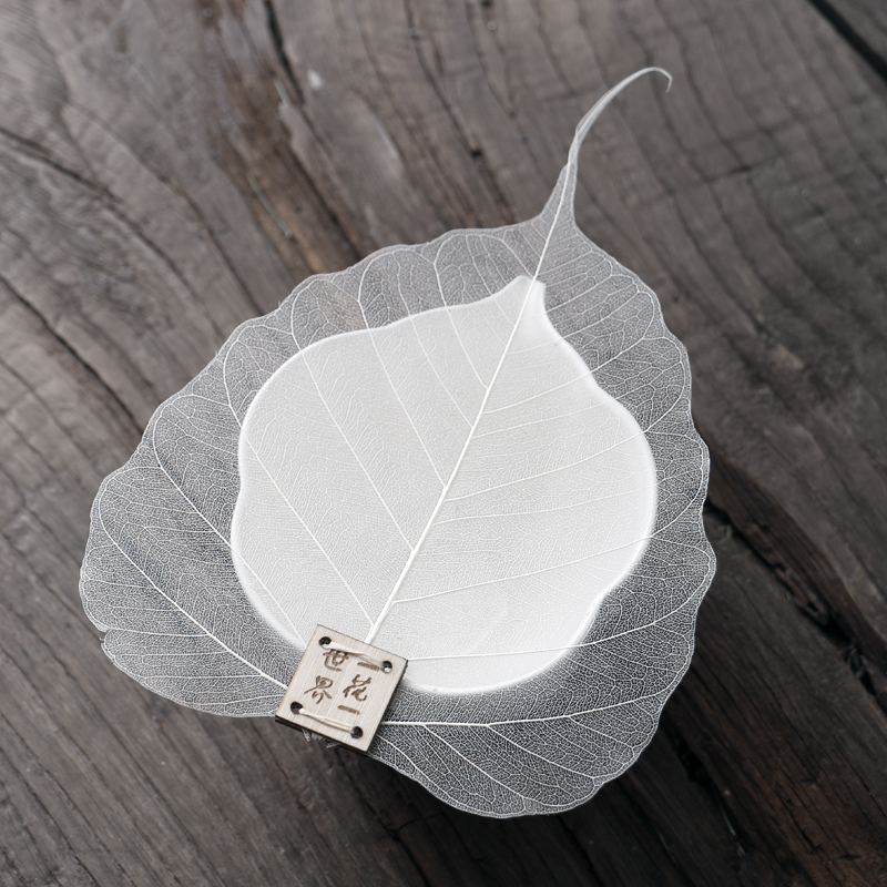 drinkware Special Price Creative simple tea filter bodhi leaves filter tea leaves natural tea sets